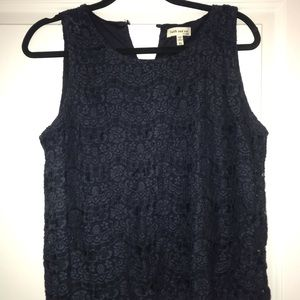 Navy blue Lace sleeveless top by Faith and Joy